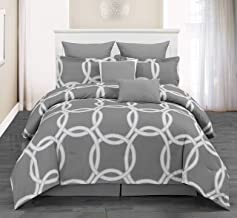 Duck River Redington Geometric Comforter Set, Full/Queen, Silver