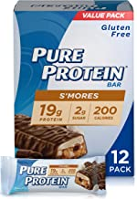 Pure Protein Bars, High Protein, Nutritious Snacks to Support Energy, Low Sugar, Gluten Free, S'mores, 1.76oz, 12 Pack