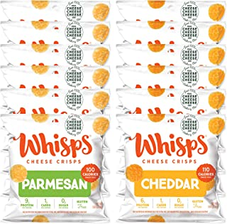 Sponsored Ad - Whisps Parmesan & Cheddar Cheese Crisps Variety Pack | Back to School Snack, Gluten Free, Keto Snack, Sugar...