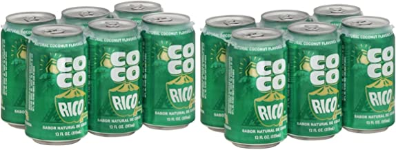 Coco Rico - Natural Coconut Flavored Soda from Puerto Rico - 12 Fl Oz Can per Six Pack (Count of 2)