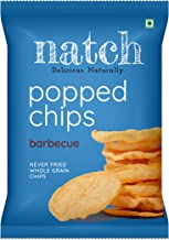 Natch Popped Chips, Gluten Free Whole Grain Crisp, Low Calorie (Barbecue), 3 x 20 g