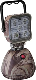 ECCO EW2461 Camoflage Work Light, 12/24vdc, LED 600 Lumens White Flood, Magnetic Base Battery Pack, Comes with A/C & D/C Chargers