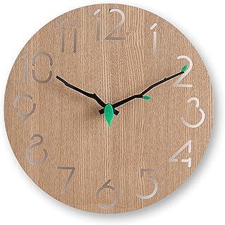 掛け時計 木製 おしゃれ 北欧 静音 約 30 cm 壁掛け時計 透かし彫り アナログ クロック シンプル モダン フレームなし インテリア 自宅、寝室、部屋飾、り贈り物に です最適です