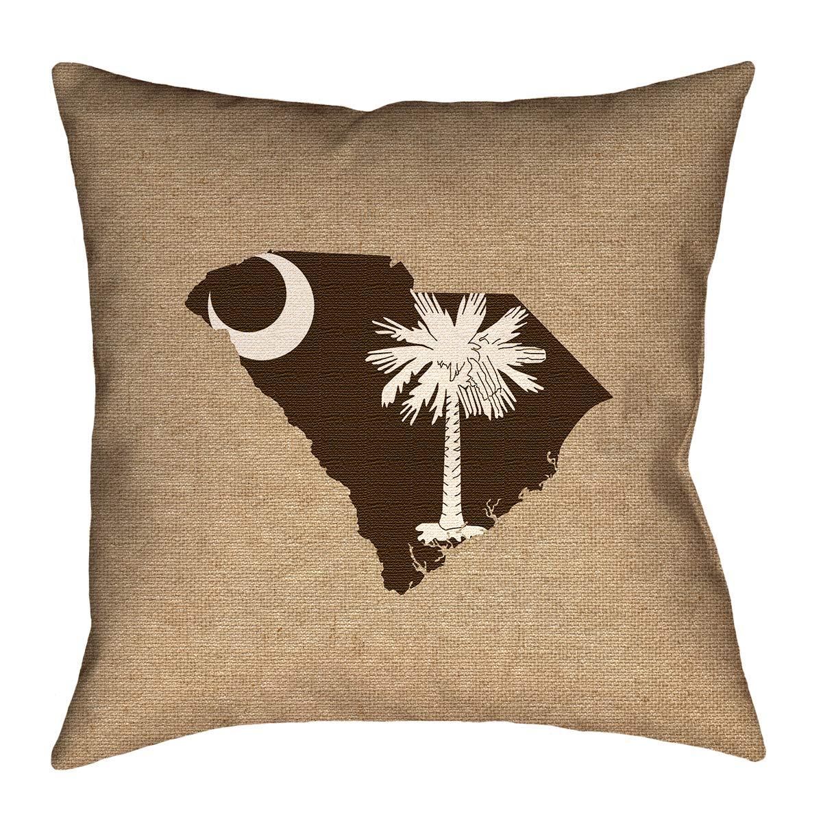 ArtVerse Katelyn Smith 14 x 14 Spun Polyester Michigan Love Pillow