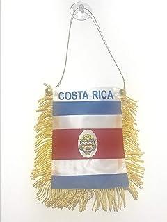 COSTA RICA 迷你横幅 6 英寸 x 4 英寸 – 哥斯达黎加骑行吊坠 15 x 10 厘米 – 迷你横幅 4x6 英寸吸盘架 – AZ FLAG