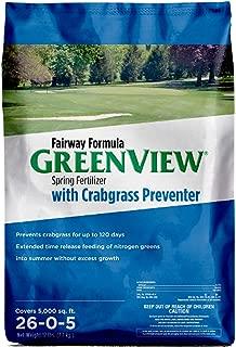 GreenView 2129829 Fairway Formula Spring Fertilizer + Crabgrass Preventer, 17 lb. -Covers 5,000 sq. ft