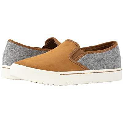 SOREL Campsneaktm Slip (Camel Brown Leather/Felt Combination) Women