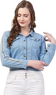 FUNDAY FASHION Nice Full Sleeve Blue Solid Women's Denim Jacket…