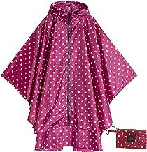 Womens Rain Poncho Waterproof Raincoat with Hood Zipper Outdoor Hiking Biking