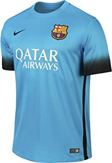 Mens Barcelona Stadium Jersey [LT Current Blue]