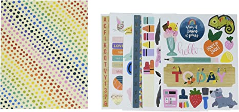 American Crafts Shimelle Box Of Crayons 8-Page Book-Clear, Washi, Cardstock/Icon & Alpha