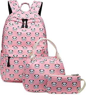 panda backpack and lunchbox