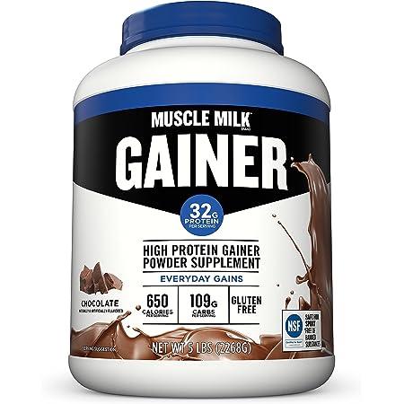 Muscle Milk Gainer Protein Powder, Chocolate, 32g Protein, 5 Pound