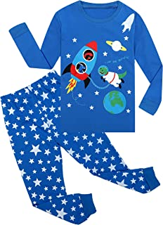 Qtake Fashion Boys Pajamas Planet Winter Long Sleeve Children Set 100% Cotton Little Kids Pjs Sleepwear Size 12M-12year