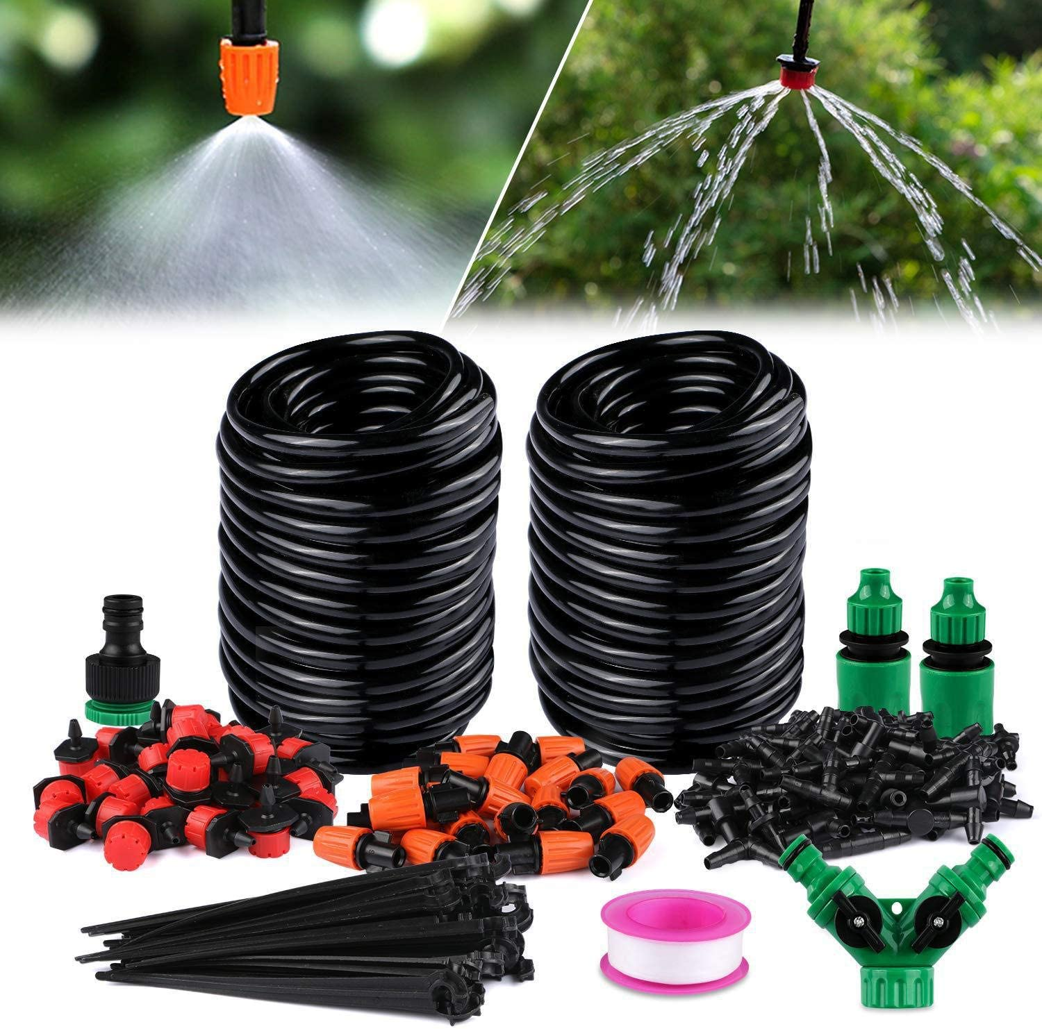 67% OFF of Lowest price challenge fixed price Misting Cooling System 98FT 30M Nozzles Outd Line 50 +