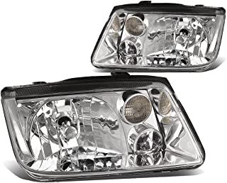 DNA Motoring HL-OH-106-CH-CL1 Pair of Headlight Assembly [99-05 Volkswagen Jetta/Fits Models Without Fog Light]