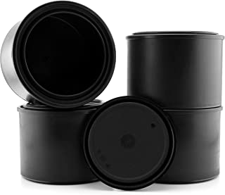 Pint Size Black Plastic Paint Cans (4-Pack); ½ Liter All Plastic Cans for Solvents, Paints or Craft Projects and Halloween Decor