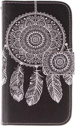 Anlike Lederh�lle Leder Tasche Case f�r Samsung Galaxy J1 (4,3 Zoll) H�lle PU Leder Flip Brieftasche Schutzh�lle Wallet Cover Handytasche Schutzh�lle Handy Zubeh�r Handyh�lle mit Bookstyle mit Standfu