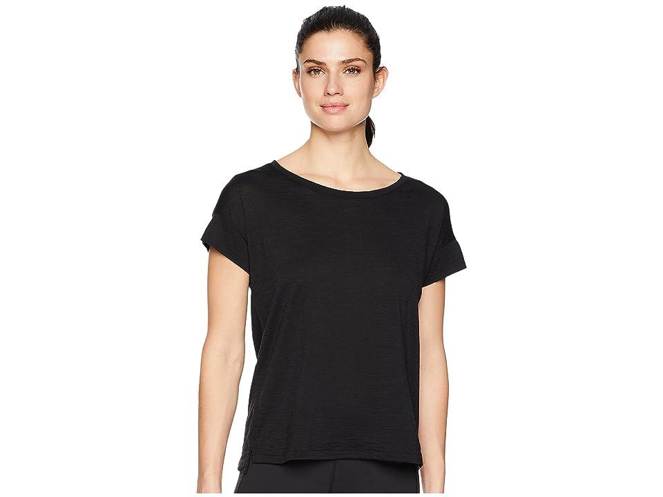 Icebreaker Aria Merino Short Sleeve Scoop (Black) Women