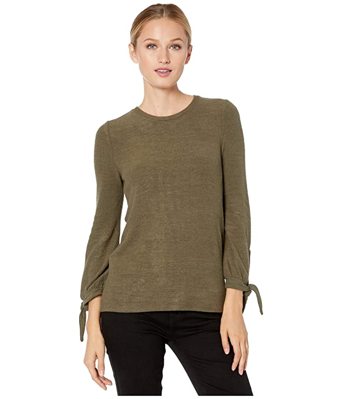 Lucky Brand  Tie Sleeve Cloud Jersey Top (Grapeleaf) Womens Clothing