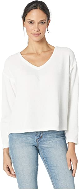 Cozy Crush Claire V-Neck Long Sleeve Classic Pullover