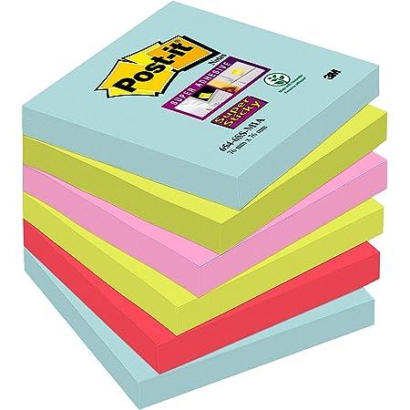 3M - 6546SSMIA - Bloc Notes Post-It Super Stick Miami 76 x 76mm