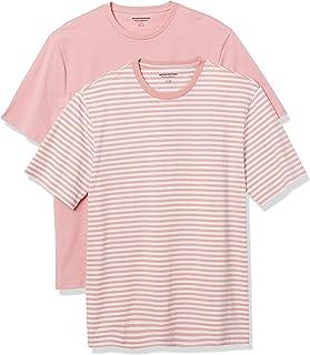 Amazon Essentials Men's 2-Pack Loose Fit Short-Sleeve Crewneck T-shirt