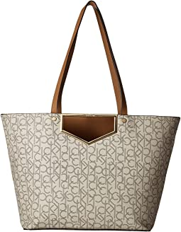 Calvin Klein - Monogram Cut Out Hardware Tote