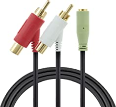 1.2m Female RCA Audio Splitter Cable for Turtle Beach® Gaming Headsets - Gold Plated