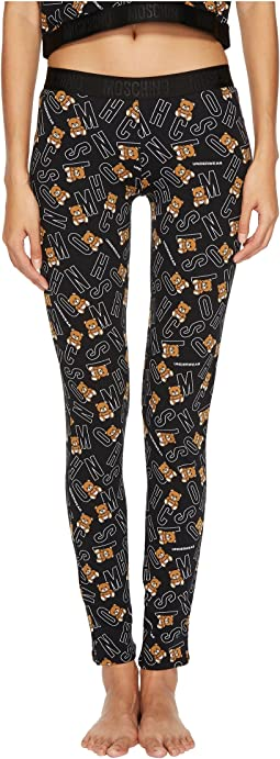 Moschino - Jersey Stretch Moschino Bear Leggings