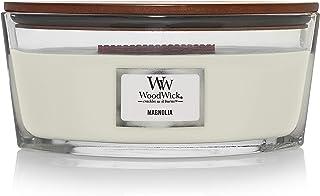 Woodwick Ellipse doftande ljus med krackande veke | Magnolia | Upp till 50 timmar bränningstid