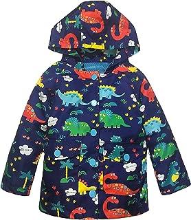 YNIQ Boys' Lightweight Dinosaur Print Raincoats