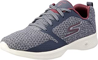 Skechers Australia GO Walk 4 - Desire Women's Walking Shoe, Charcoal/Burgundy, 10 US