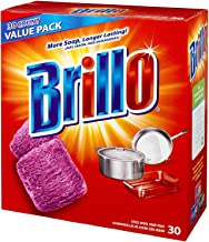 product image for Brillo Steel Wool Soap Pads Jumbo, Red, 30 Count(2Pack)
