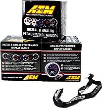 AEM 52mm Gauge Combo Air/Fuel Wideband UEGO & Oil Pressure 150psi & Boost 30-35 w/MAP Lanyard Black