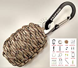 Paracord Survival Grenade (28pc) Kit with Water Purification Tablets--Military Grade Wilderness Preppers Gear For Camping Hiking Hunting--Moms Feel Safe! Your Kids Can Get Food Fire Shelter When Lost