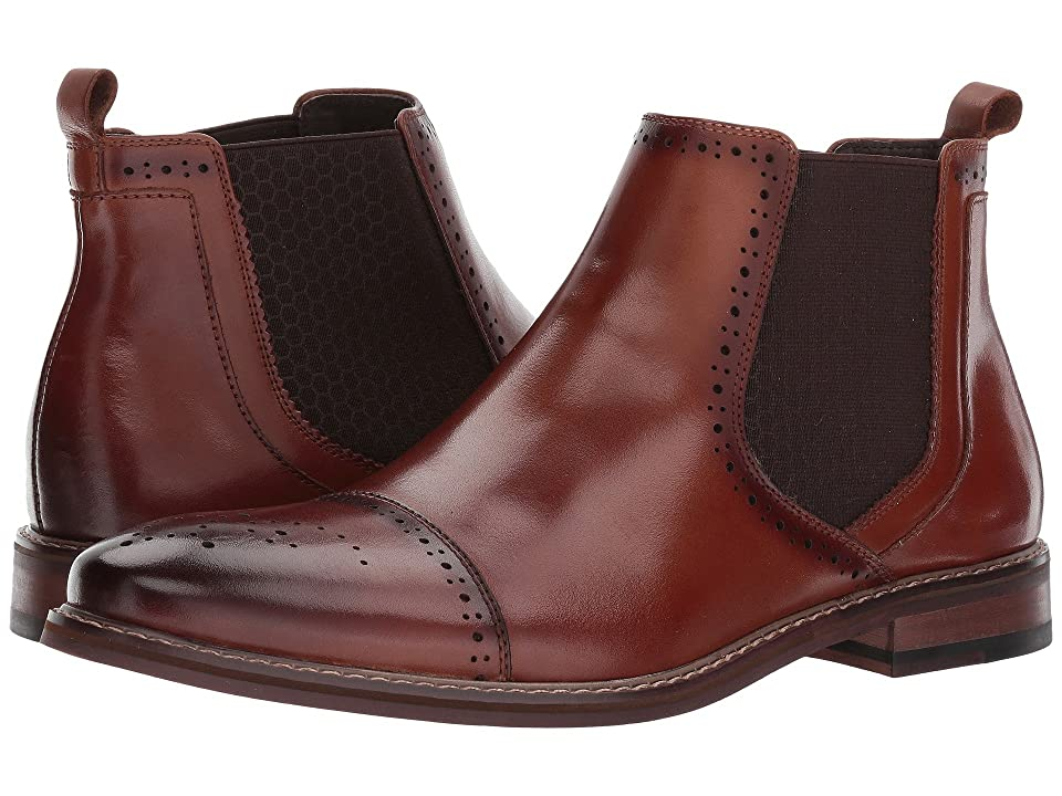 Stacy Adams Alomar Cap Toe Chelsea Boot (Cognac) Men