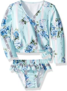 Seafolly Girls' Long Sleeve Ballet Front Rashguard Set