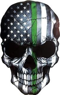 OTA Sticker Skull Skeleton Devil Ghost Monster Zombie Dead American Flag Subdued Thin Green LINE Military Park Ranger Border PATROLS Federal Agents Decal Laptop CAR Window Door Wall Motorcycle Helmet