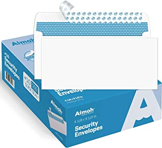 #10 Security Self-Seal Envelopes, Windowless Design, Premium Security Tint Pattern, Ultra Strong Quick-Seal Closure - Enve...