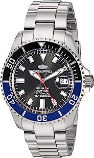 Seapro Men's Scuba 200 Automatic Stainless Steel Strap, Silver, 22 Casual Watch (Model: SP4321)