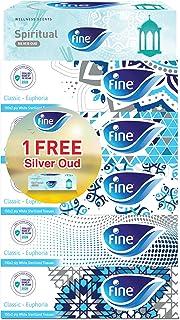 Fine Wellness Bundle, Sterilized Facial Tissues, Classic Euphoria pack of 5 + 1 box of Spiritual Silver Oud