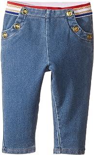 [マークジェイコブス] Little Marc Jacobs レディース Denim Effect Trousers (Infant) ジーンズ Stone 9 Months [並行輸入品]