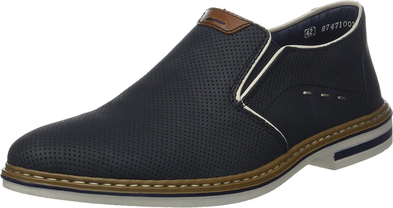 Rieker Men's Loafers, Blau Ozean Amaretto Chalk, 7.5 UK