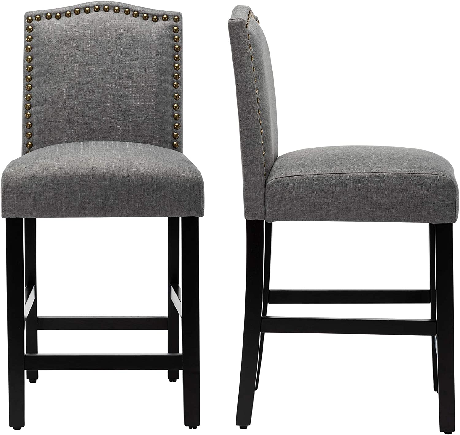 LSSBOUGHT Counter Stools Don't miss Ranking TOP3 the campaign 24 inches Bar S Chairs Upholstered with