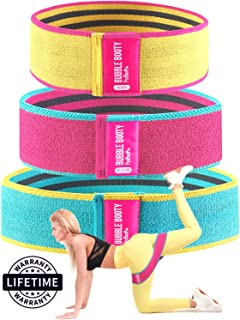 PeoBeo Fabric Resistance Bands   Hip Band Set of 3 Non Slip Hip Thruster Hip Resistance Circle for Glute Activation, Thick Grippy Fabric Booty Bands with Workout Book