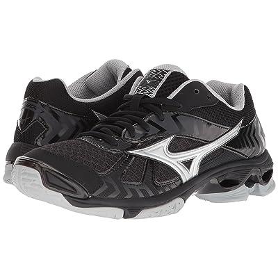 Mizuno Wave Bolt 7 (Black/Silver) Girls Shoes