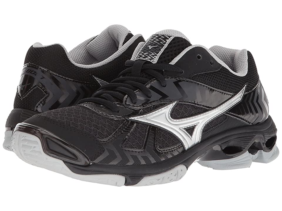 Mizuno Wave Bolt 7 (Black/Silver) Girls Shoes