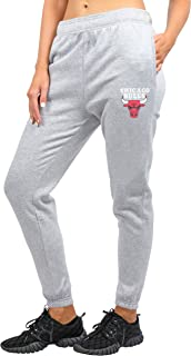 Ultra Game NBA Women's Jogger Pants Active Logo Fleece Sweatpants