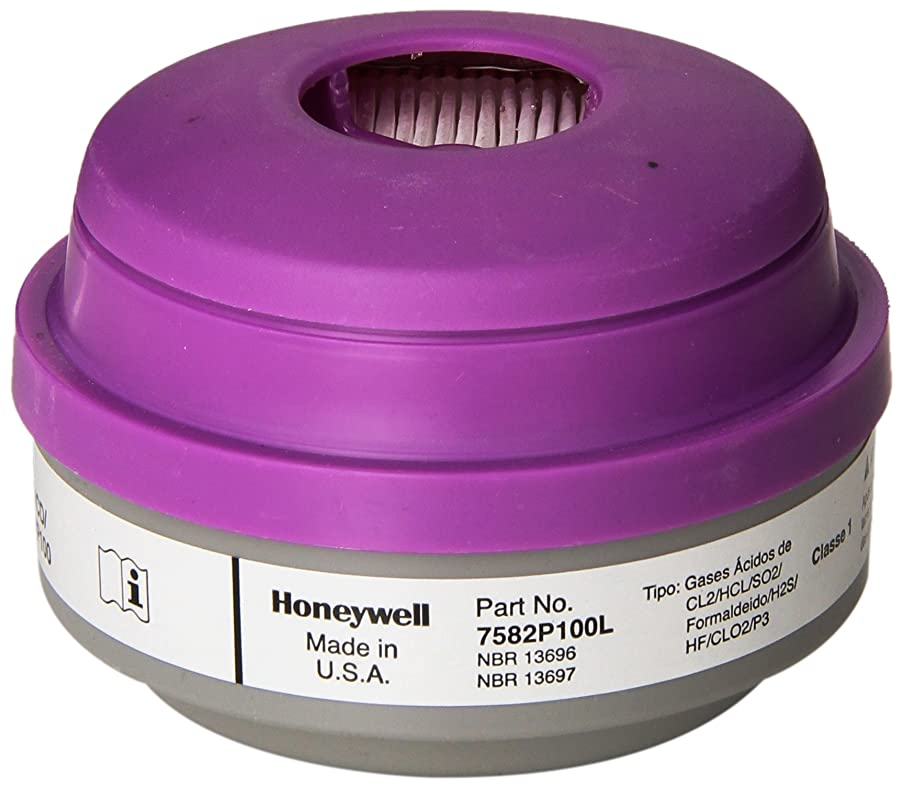 是正するスポット加入Honeywell 7582P100L Acid Gas Cartridge with P100 Particulate Filter, White/Magenta (Pack of 24) by Honeywell